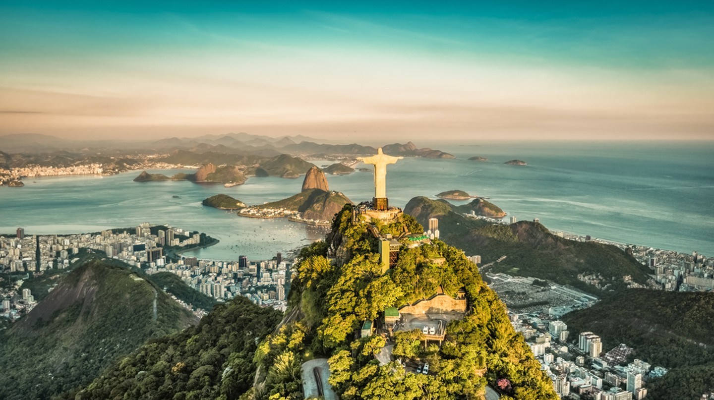 Aerial view of Botafogo Bay from high angle, Rio De Janeiro| ©marchello74/Shutterstock
