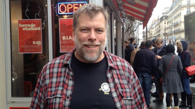 Craig Carlson outside Breakfast in America 3 │ Courtesy of Breakfast In America