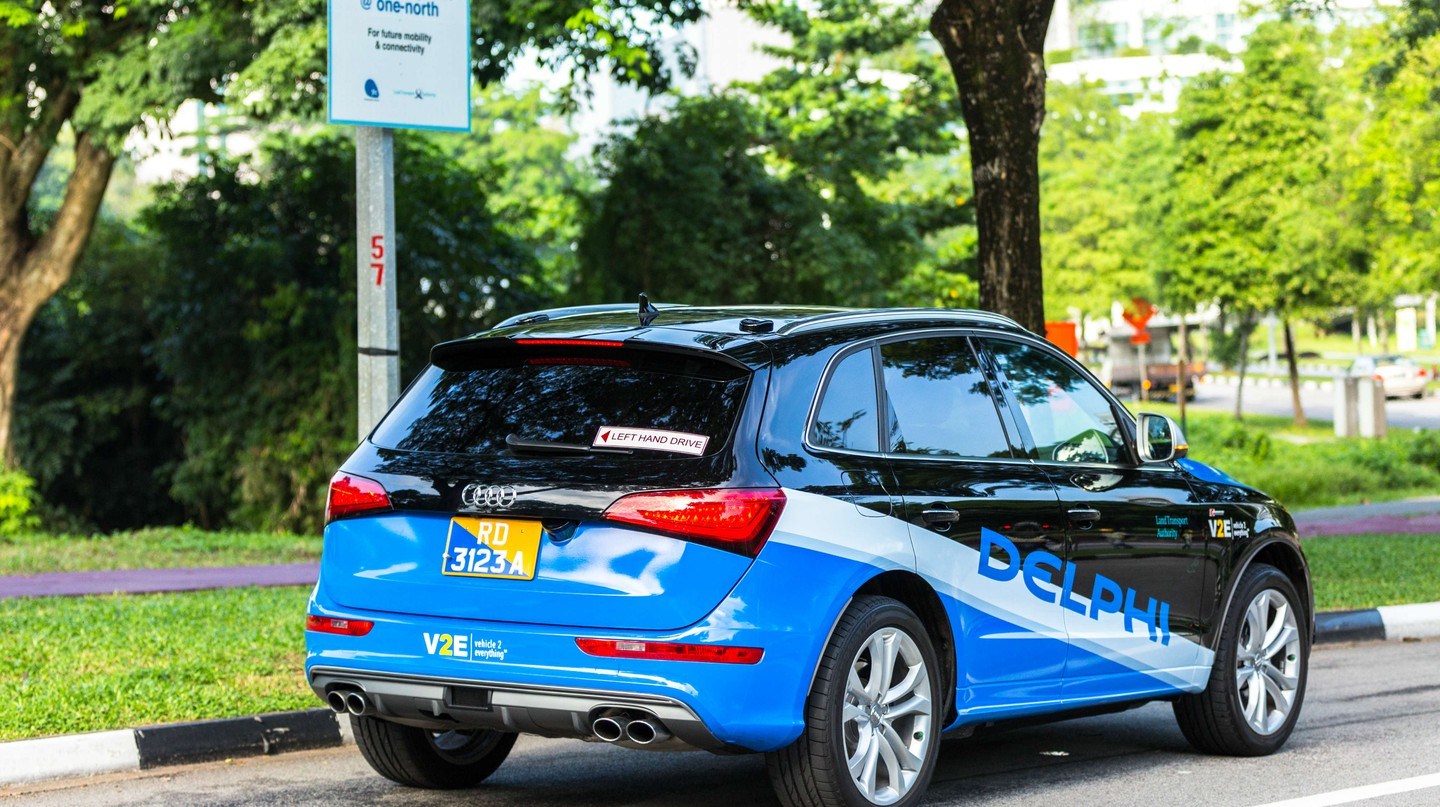 A Delphi automated vehicle being tested in Singapore. | Courtesy Delphi.