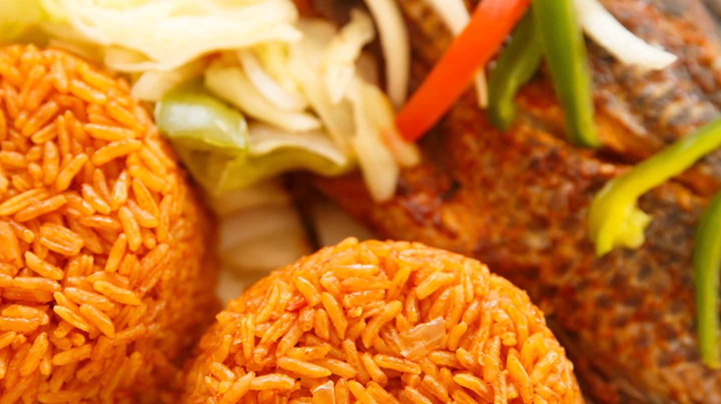 Jollof rice and fish