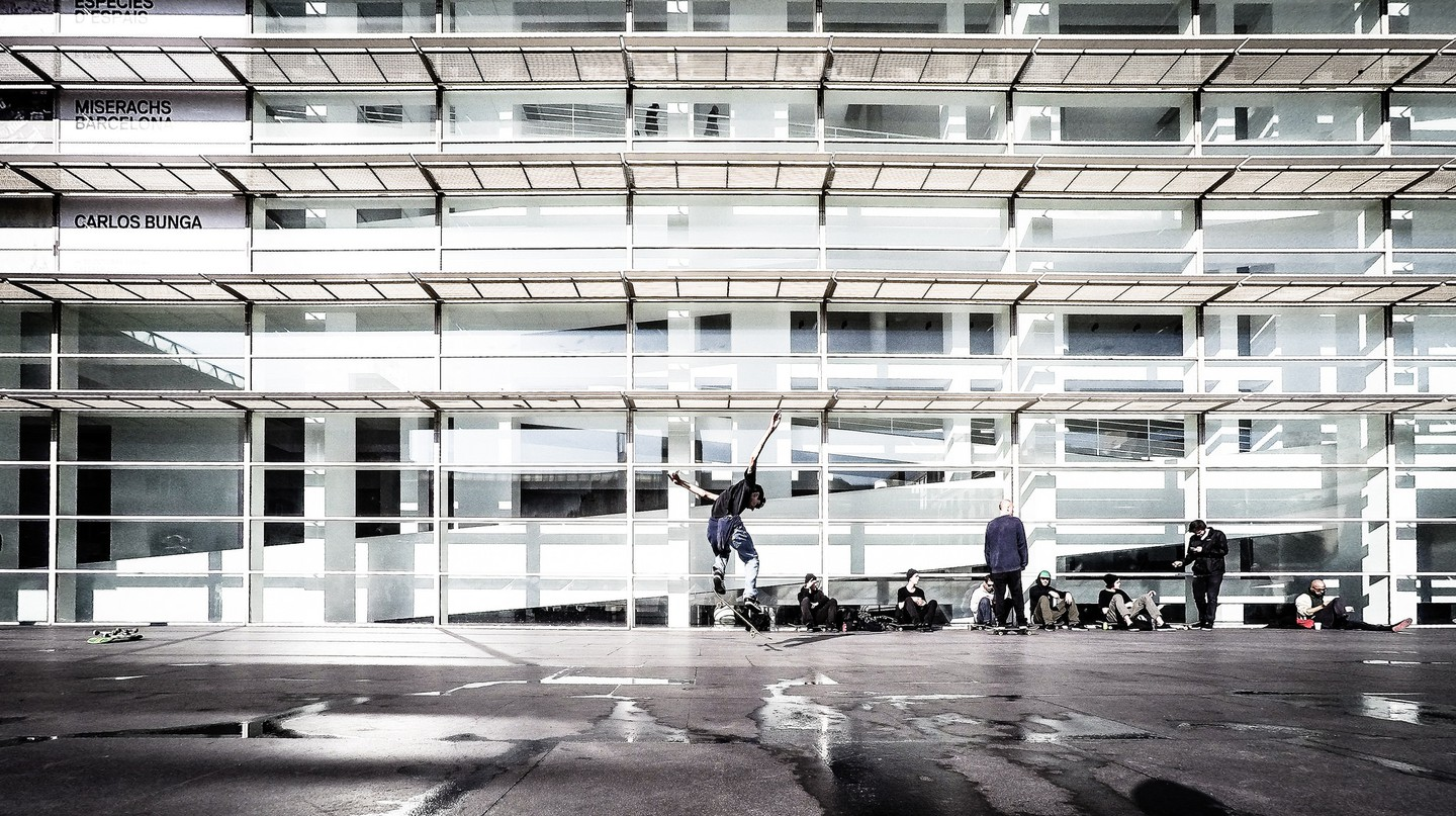 Skater at MACBA | © Luis Marina