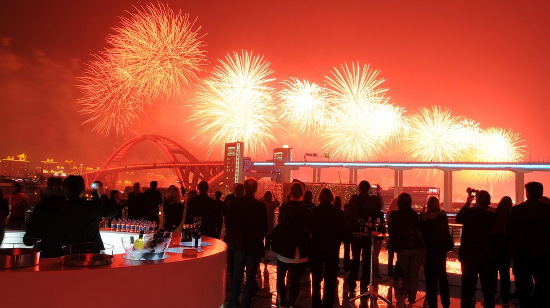 Fireworks Light Up the Shanghai Skyline | ©Swedish Pavilion at Shanghai Expo/Flickr