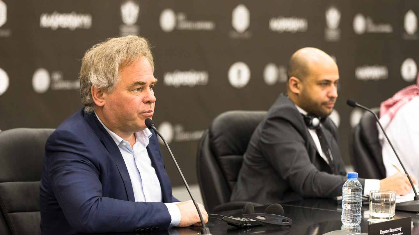 Eugene Kaspersky (left), Chairman and CEO of Kaspersky Lab | © FIDE
