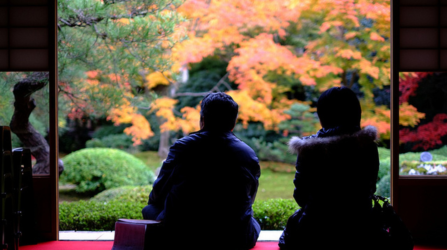 Autumn Garden in Kyoto| ©  mrhayata  Flickr
