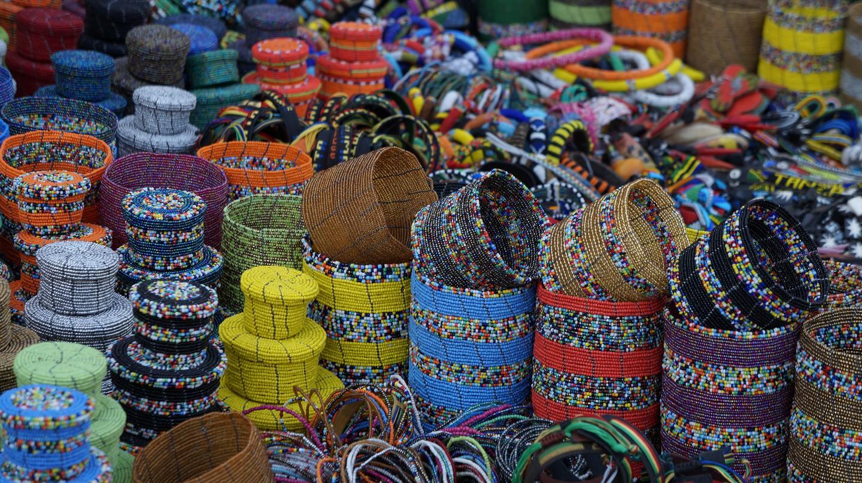 Beaded products at a Maasai market | © Travelholic Path / Flickr