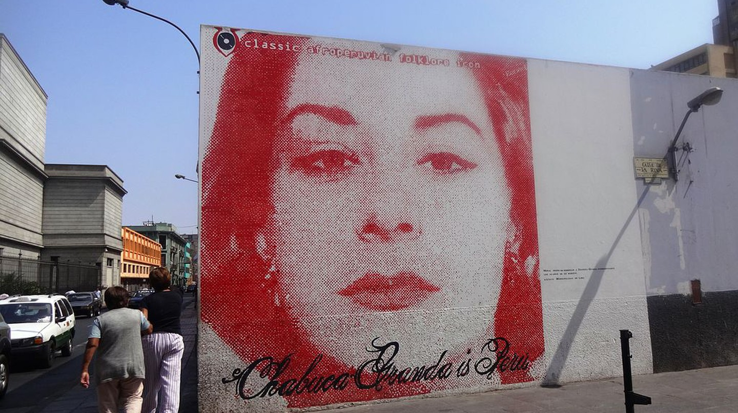 A mural of singer-songwriter Chabuca Granda located in downtown Lima|©Miguel Angel Chong/Wikipedia