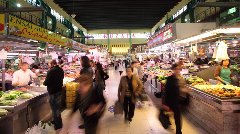 Ruzafa market hall in Valencia. Photo courtesy of Valencia Tourism