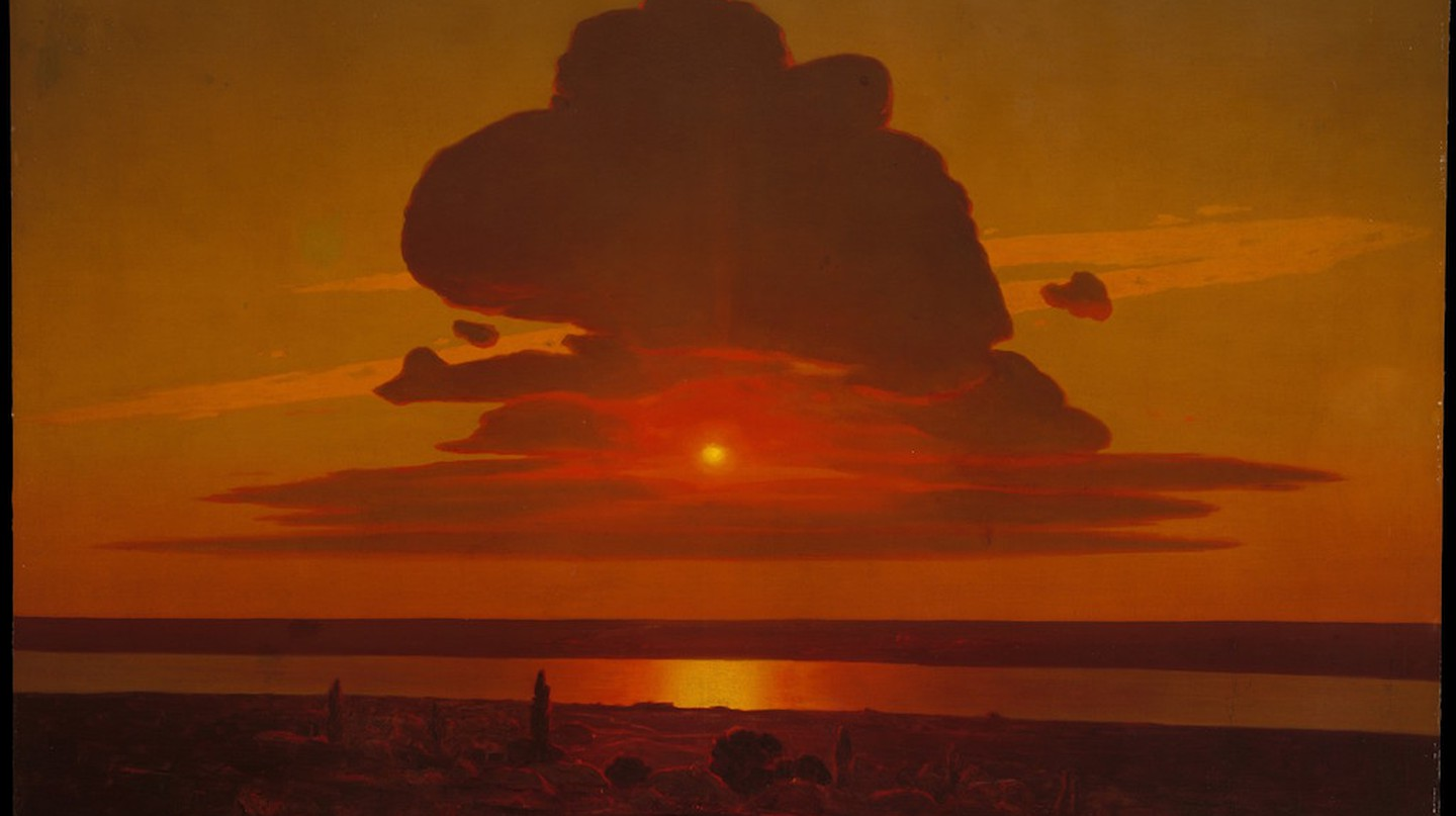 Arkhip Ivanovich Kuindzhi, 'Red Sunset on the Dnieper'. Rogers Fund, 1974