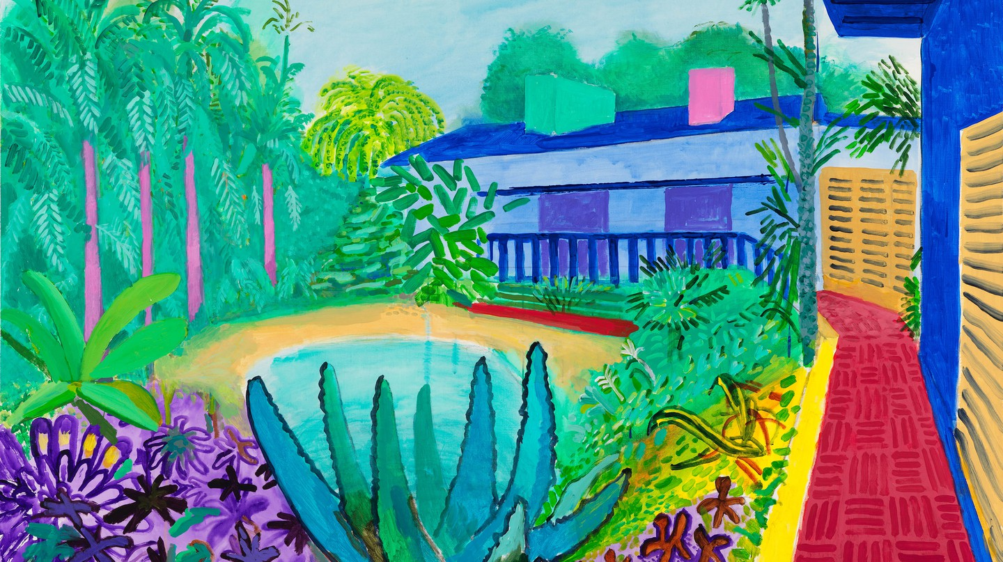 David Hockney 'Garden', 2015 | © David Hockney. Photo Credit: Richard Schmidt