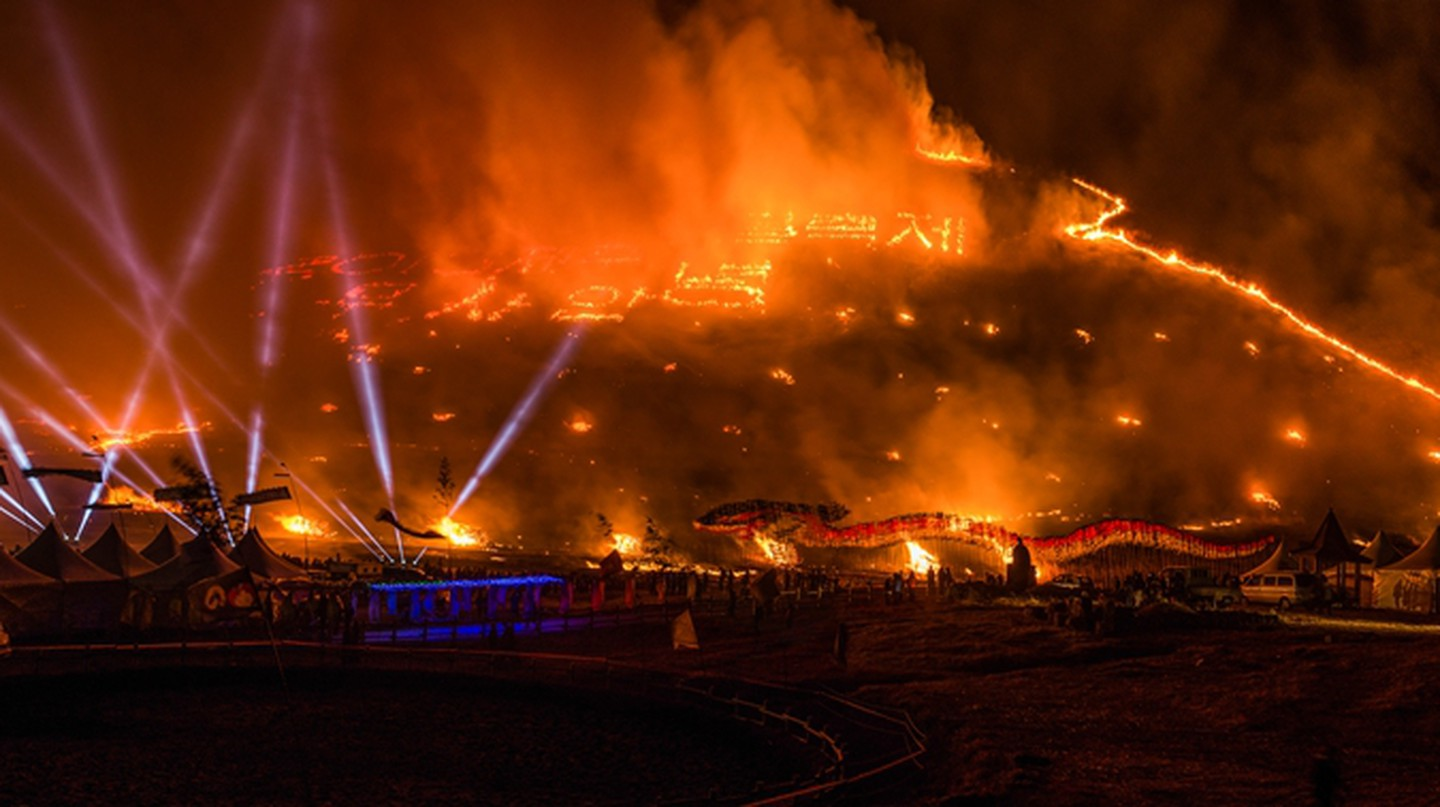 Things heat up at the Jeju Fire Festival | © Jeju Tourism Organization