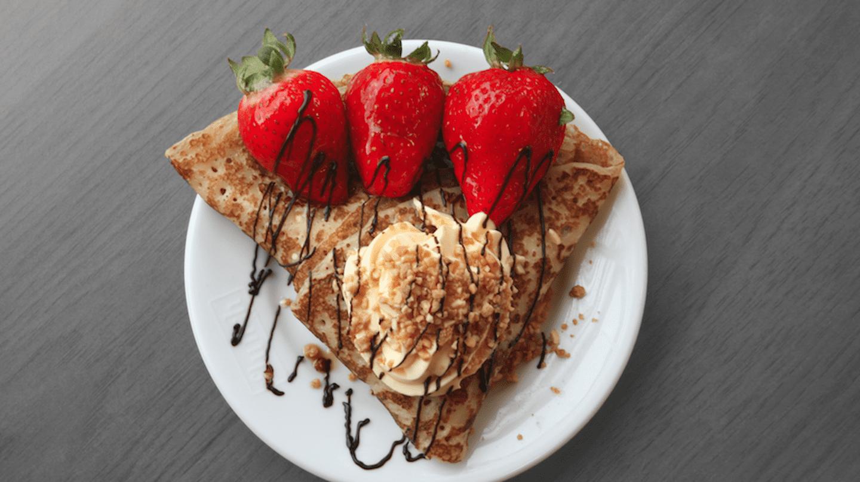 Crêpe aux fraises