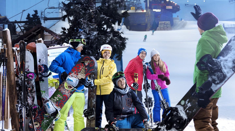 Group at Ski Dubai | Courtesy of Ski Dubai