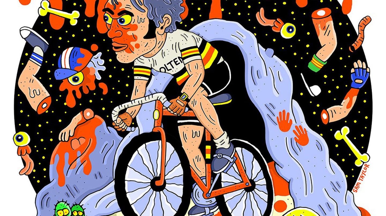 Eddy Merckx as The Cannibal. | © Sam Taylor