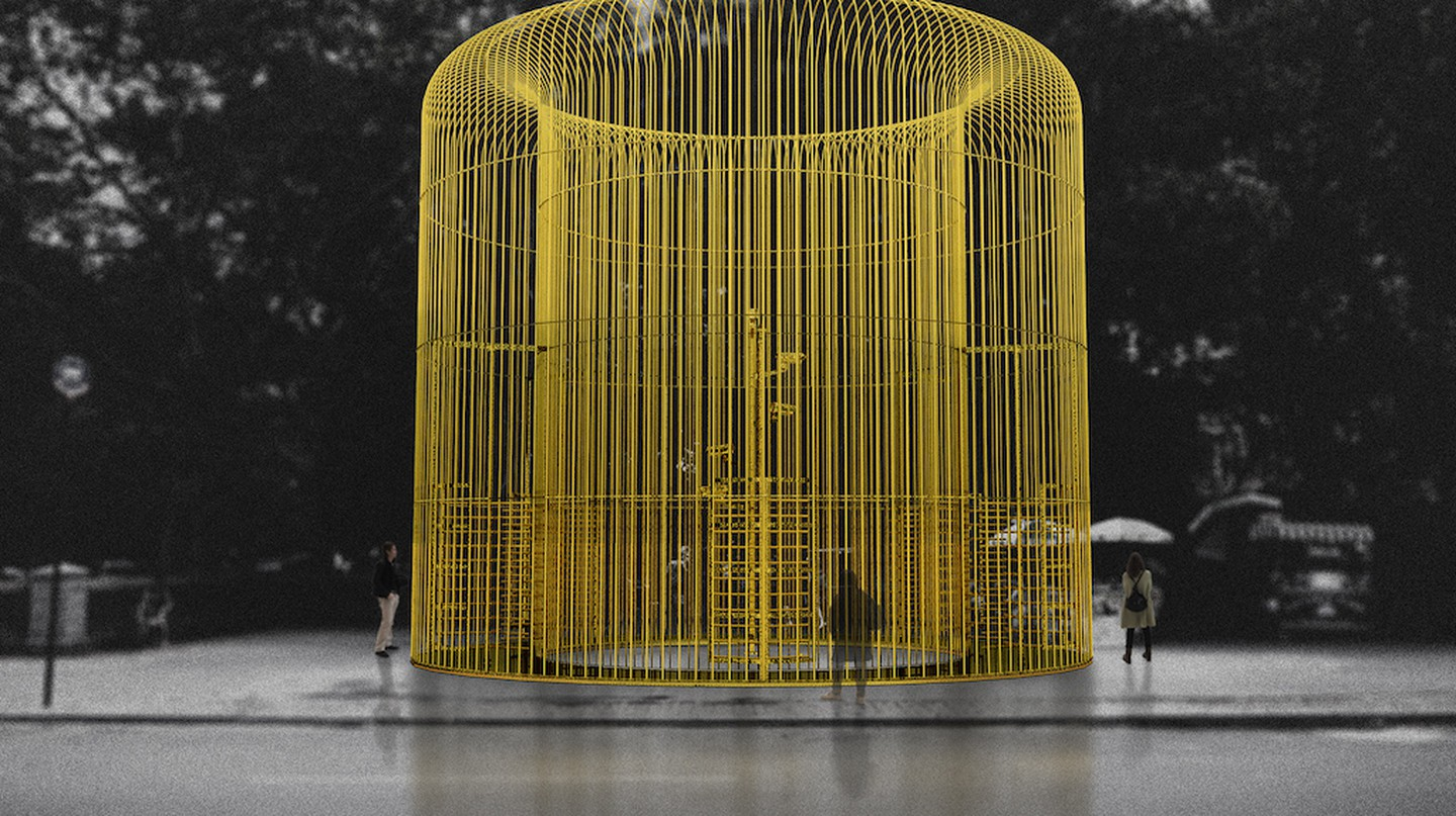 Rendering of one piece in the multi-part Public Art Fund project Ai Weiwei: Good Fences Make Good Neighbors, courtesy of Ai Weiwei Studio