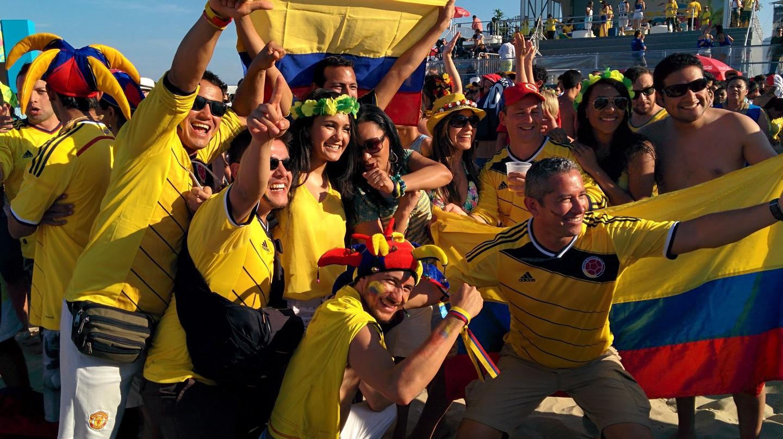 Colombian Football Celebrations ©  WM 2014 / Flickr https://www.flickr.com/photos/wm2014/14573783636/in/photolist-o5K6s3-PgZaJ-o82tf4-uHkCo-861Lj8-aP2grp-7E8k2w-5TT9wa-Hk789Q-M6ERGu-ocQs8E