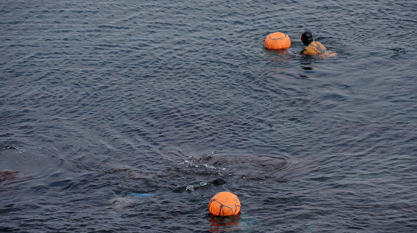 Haenyeo, the female divers of Jeju Island, in action   © KoreaNet / Flickr