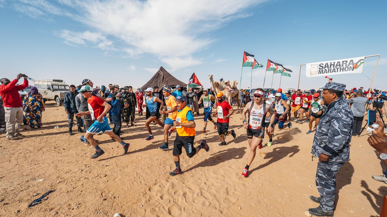 The start of the 12th annual Sahara Marathon | © Flickr/Sahara Marathon