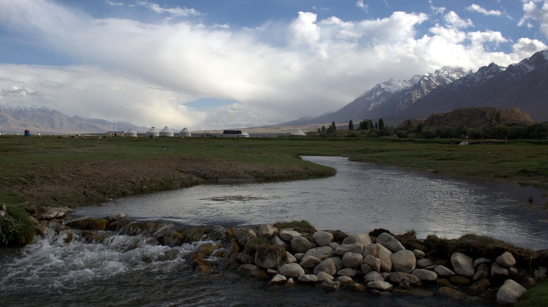 River in Tashkurgan Meadow   © Preston Rhea/Flickr