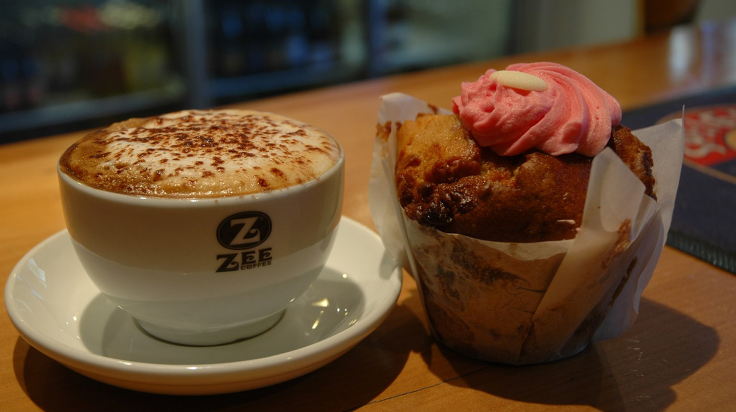 Coffee and Muffin from Cavells Cafe and Bar