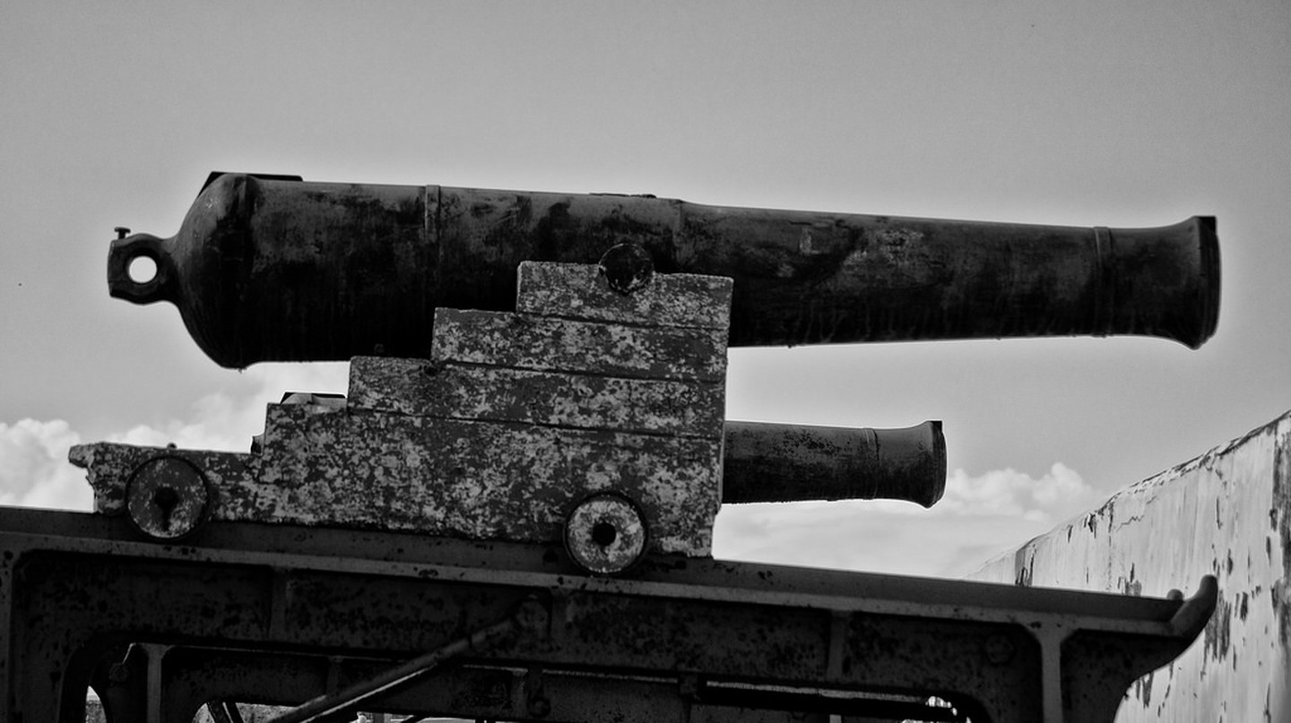 Canon at Fort Charlotte, Nassau, Bahamas