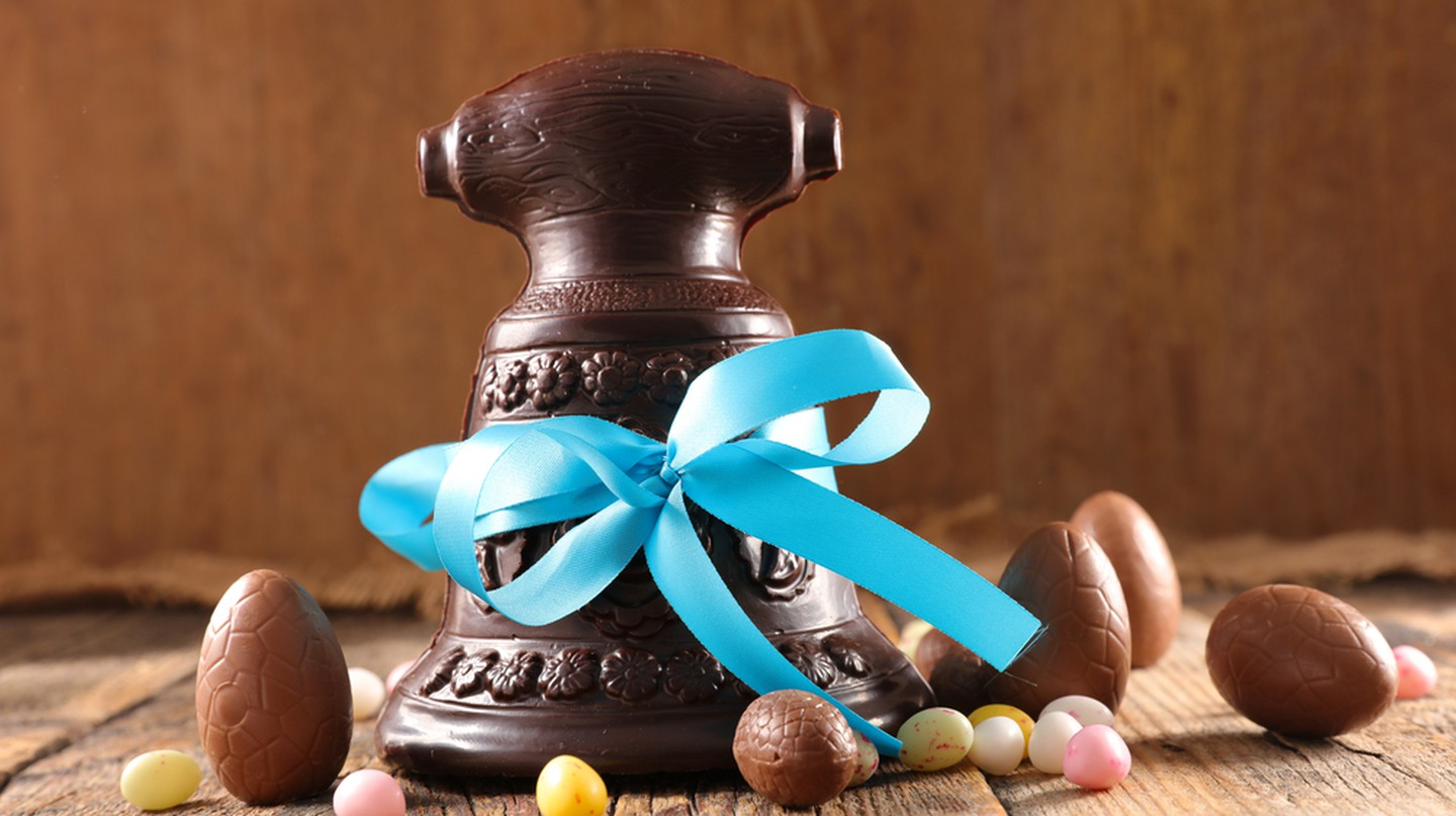 The tradition of Easter chocolate bells is huge in France |  Shutterstock