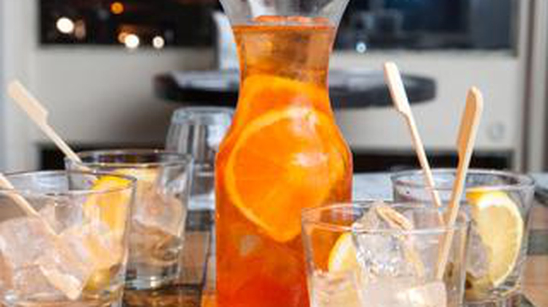 Refreshing drinks at Tel Aviv's great Cicchetti Italian eatery and bar  Courtesy of Studio Y&O