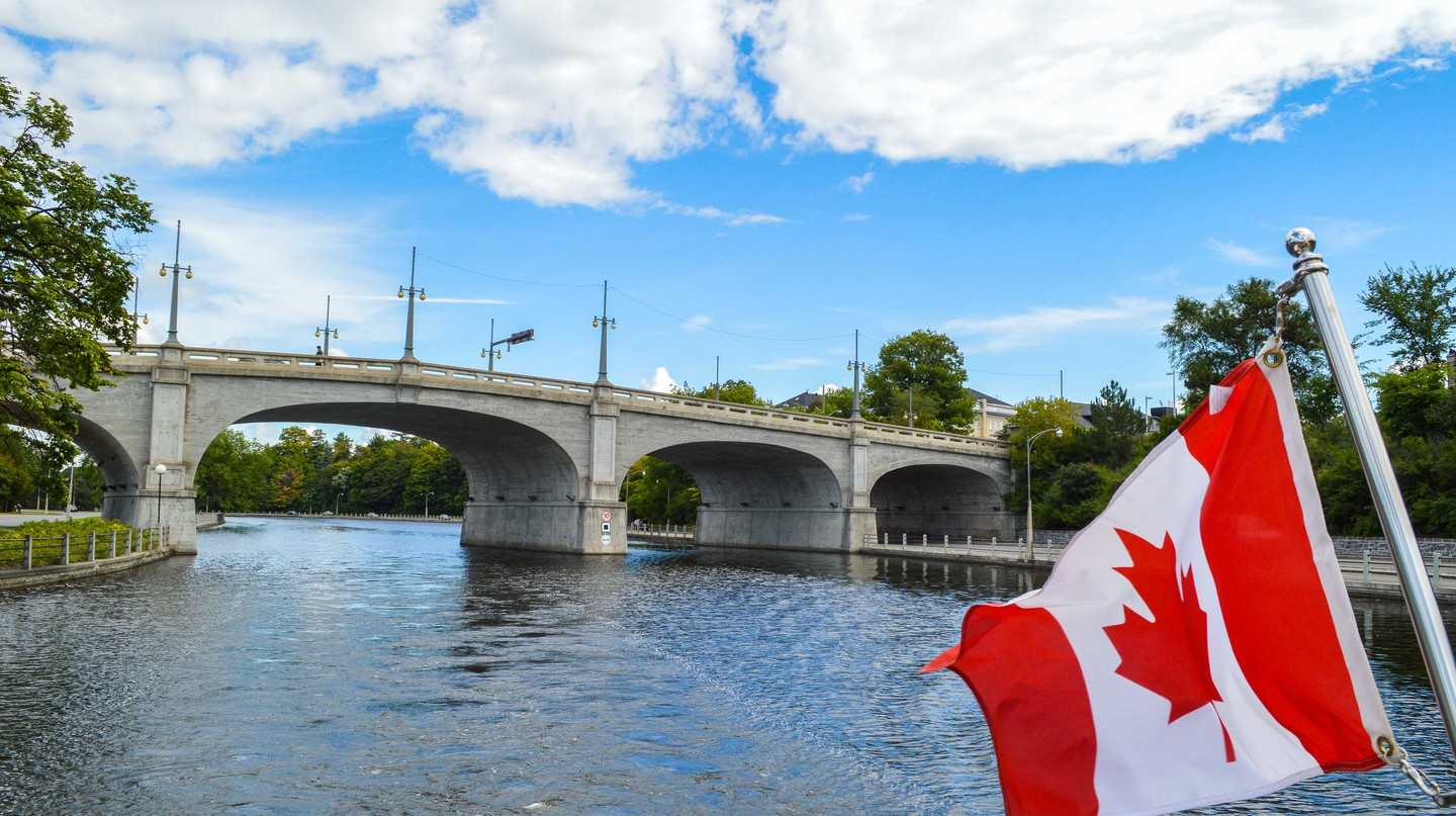 The Rideau Canal runs through downtown Ottawa |