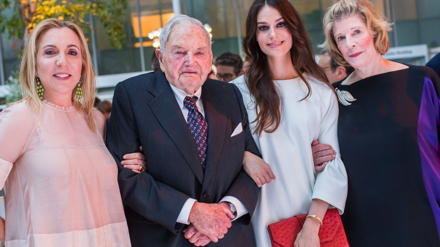 Susan Rockefeller, David Rockefeller Sr., Ariana Rockefeller and Agnes Gund. The Museum of Modern Art Party in the Garden © Photo by ddp USA/REX/Shutterstock (5701806ai)