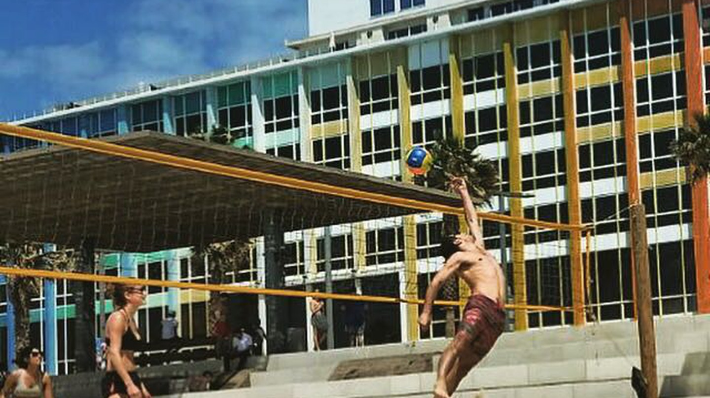 Israelis play volleyball on Tel Aviv's beach | Shay Bello, courtesy
