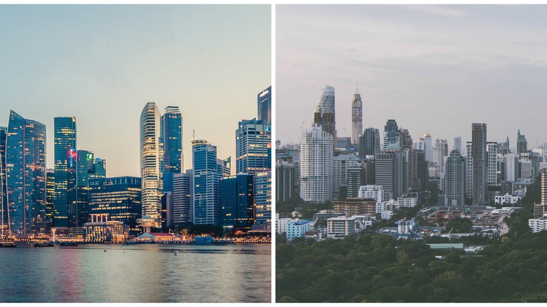 Singapore © Peter Nguyen | Bangkok © Sven Scheuermeier/unsplash