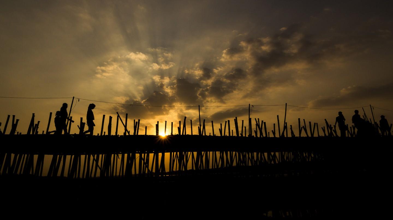 The bamboo bridge in Kampong Cham  | © Khiev Kanel/ Shutterstock