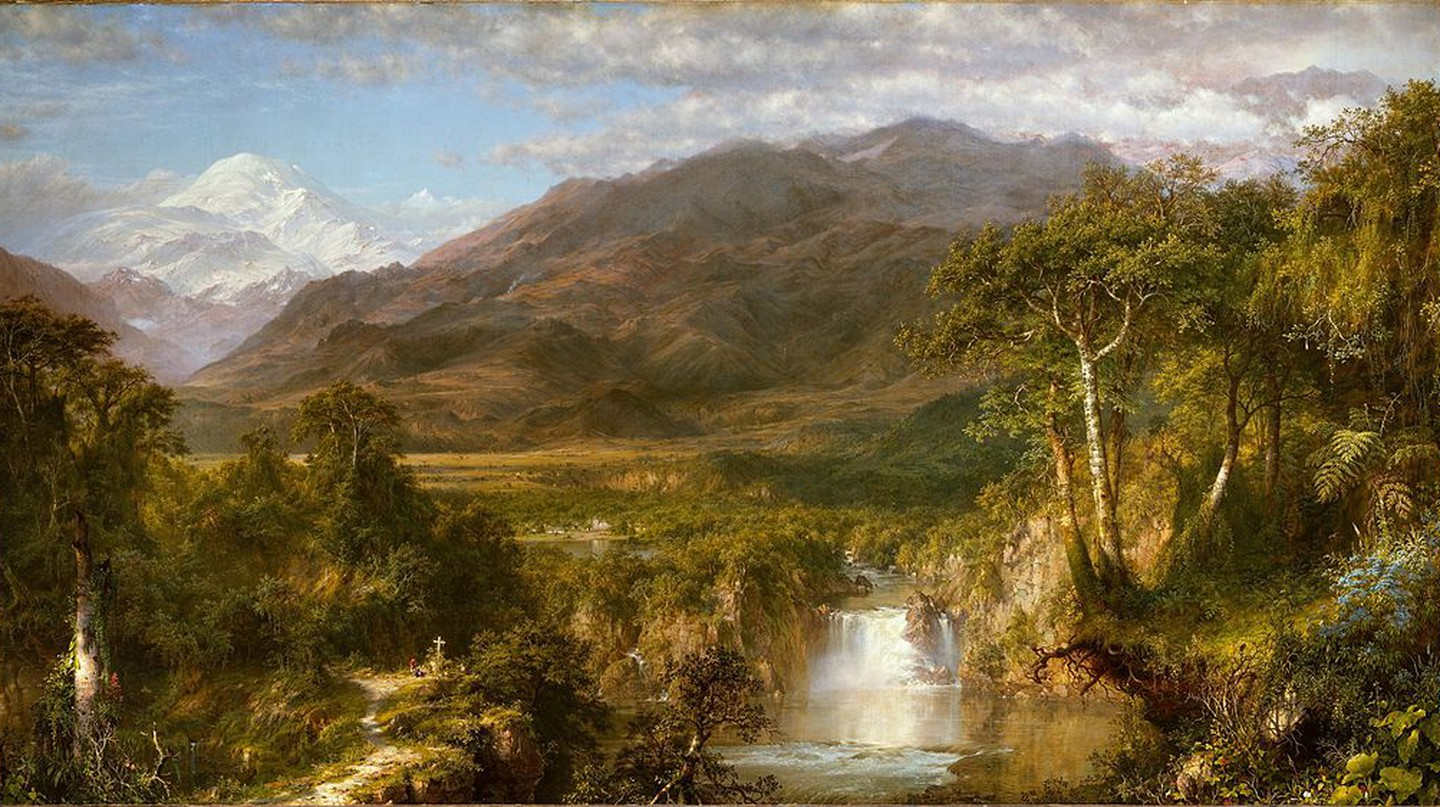 """The Heart of the Andes"" by Frederic Edwin Church was inspired by Humboldt 