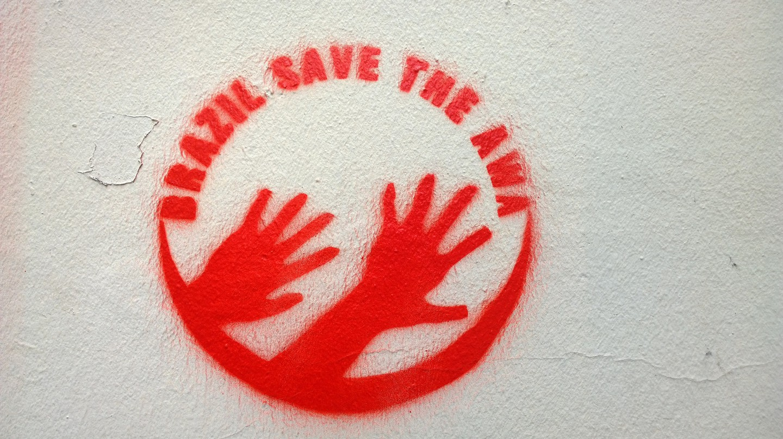 Save the Awá graffiti | © Denis Bocquet/Flickr