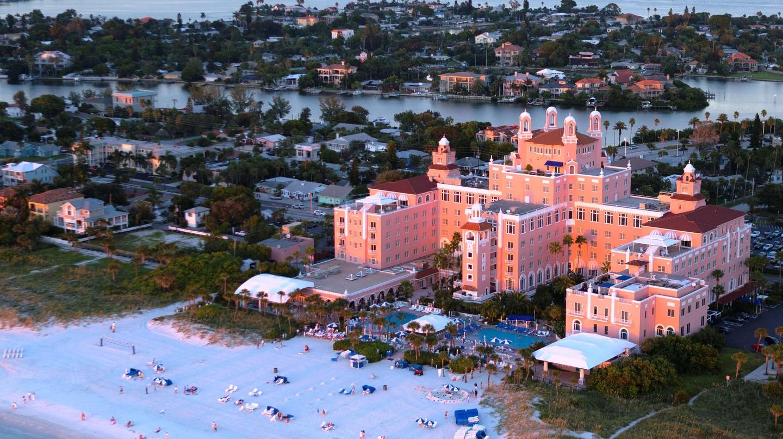 The Don CeSar hotel, aerial Exterior | © Don CeSar