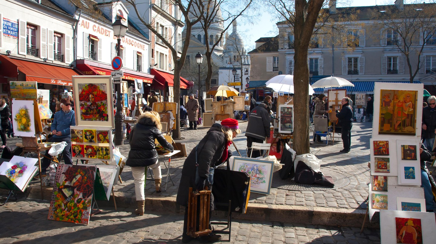 Place du Tertre in Montmartre, Paris.