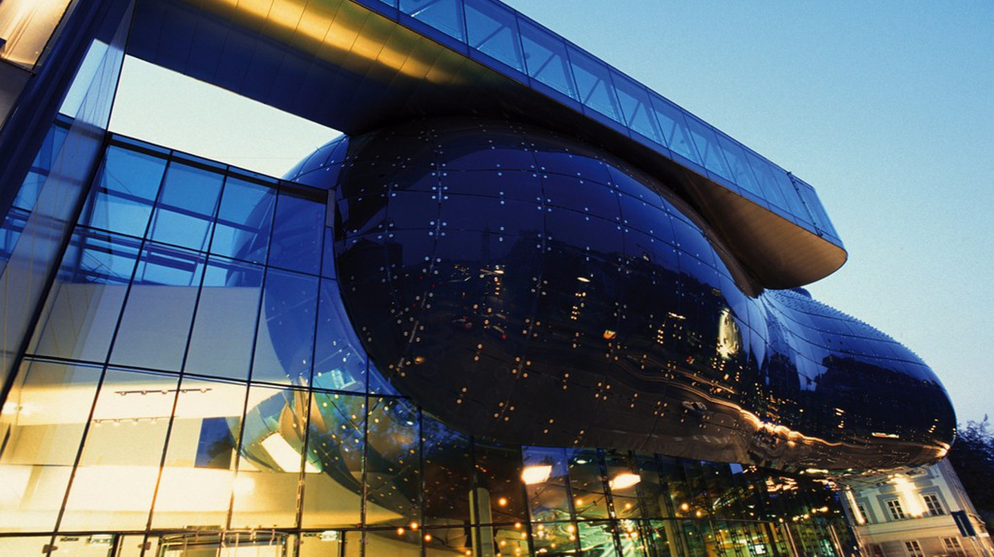 The bulbous exterior of the Kunsthaus