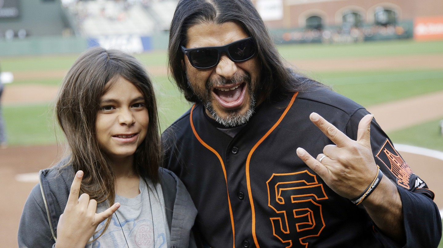 Tye with his dad Robert Trujillo | (c)  Marcio Jose Sanchez/AP/REX/Shutterstock
