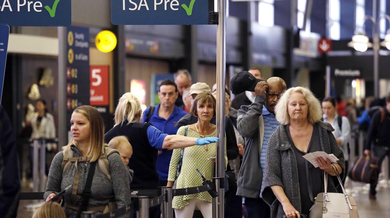 Passengers at a TSA pre-check line | AP/REX/Shutterstock