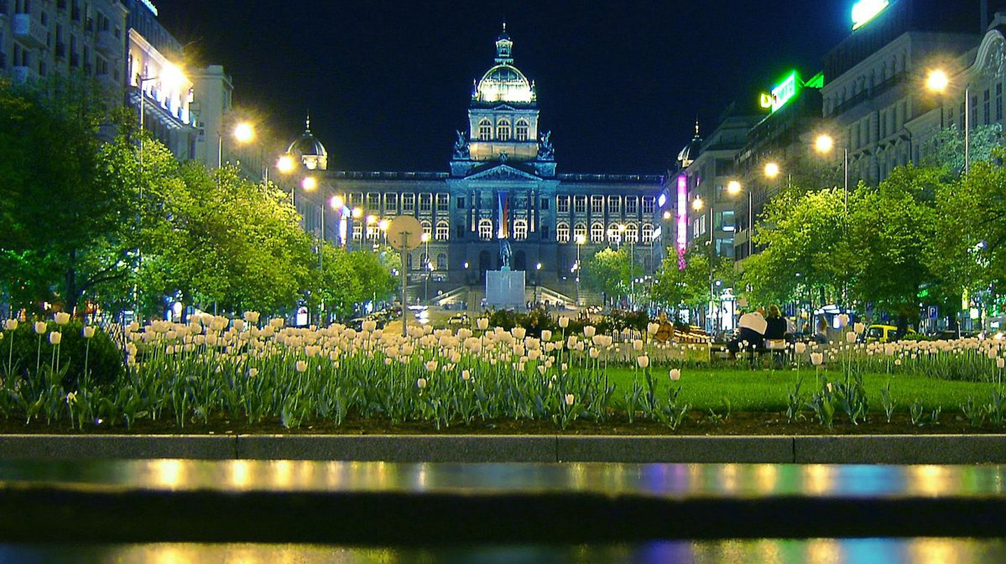 A night shot of the National Museum | ©Me haridas / Wikimedia Commons