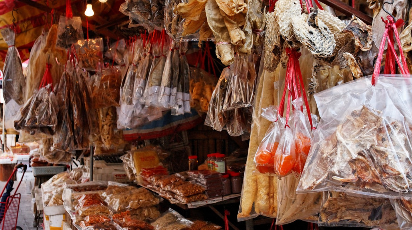 "<a href=""https://www.flickr.com/photos/denniswong/3374727899/"">Dried seafood stall 