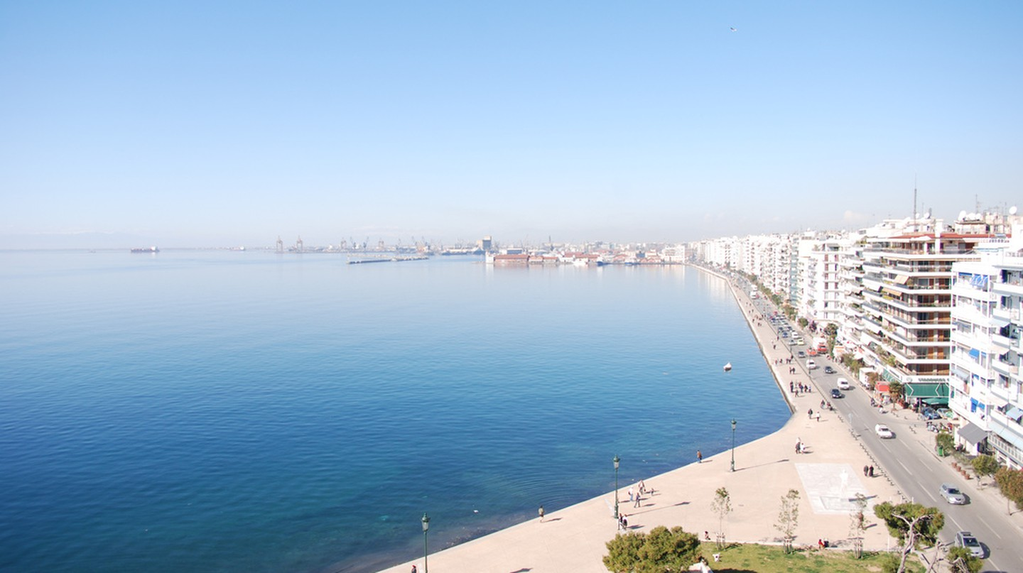 View from the top of the White Tower, Thessaloniki