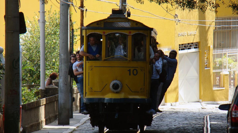 The famous 'bonde' (tram) in Santa Teresa, Rio de Janeiro