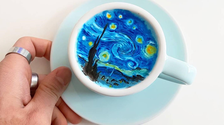 Next-level latte art | © Lee Kang Bin / Instagram
