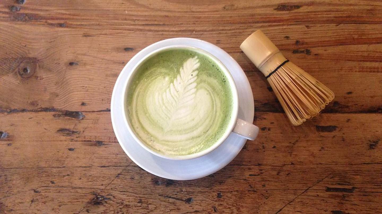 Matcha latte at Leaf, Liverpool