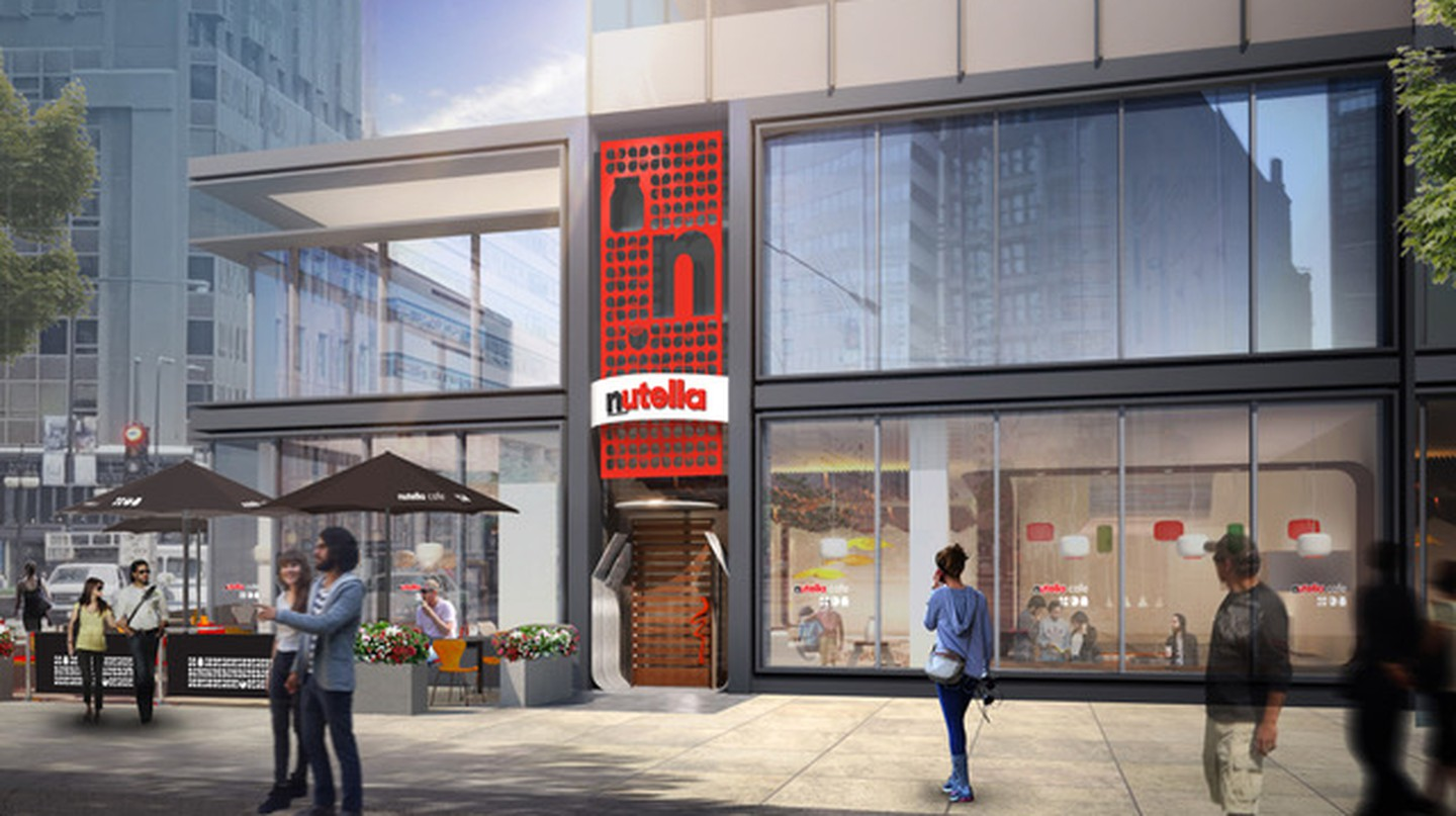 The Nutella Cafe at Millennium Park Plaza | Courtesy of Nutella