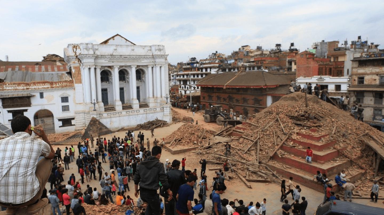 The remains of Basantapur Durbar Square © Pratap Thapa / Xinhua