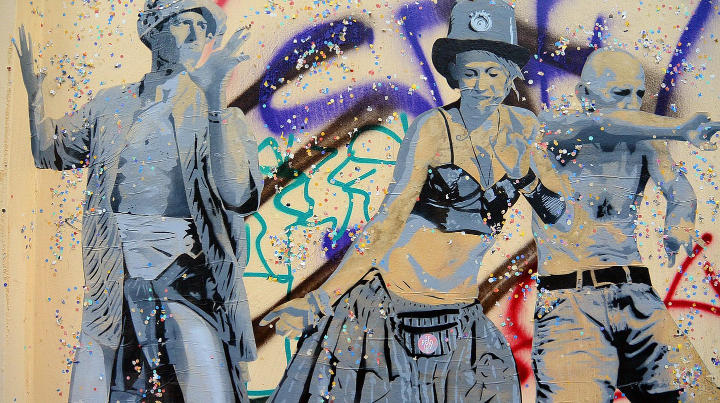 A mural in Berlin, and a tribute to the party culture   © Sarah_Loetscher/ Pixabay