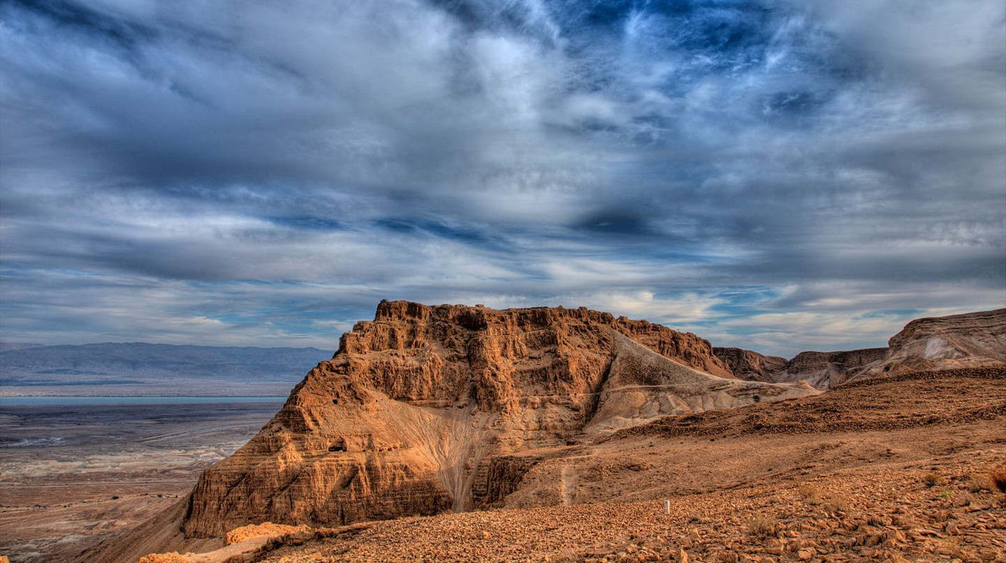 Masada from the site of the Roman siege camp | © Avinoam Michaeli/PikiWiki