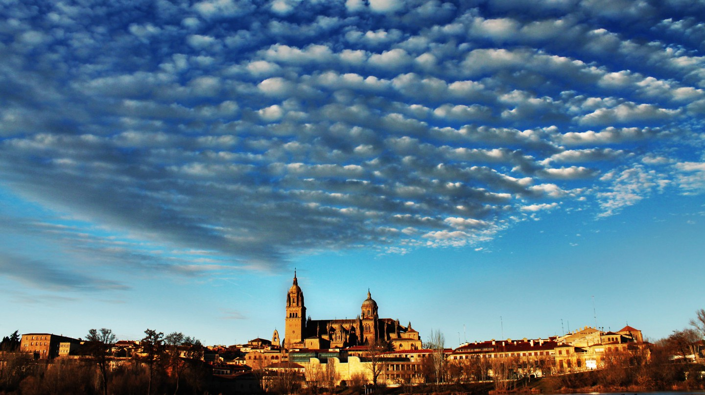 Sunset in Salamanca, Spain.  Photo: Flickr