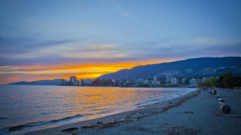Sunset from Ambleside Beach